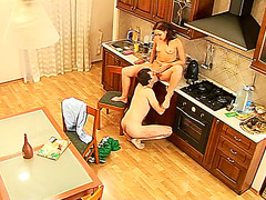 Hardcore kitchen porn instead breakfast