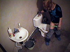 Toilet masturbation on the voyeur cam