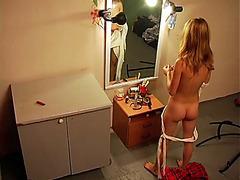 Provoking schoolgirl in her erotic uniform